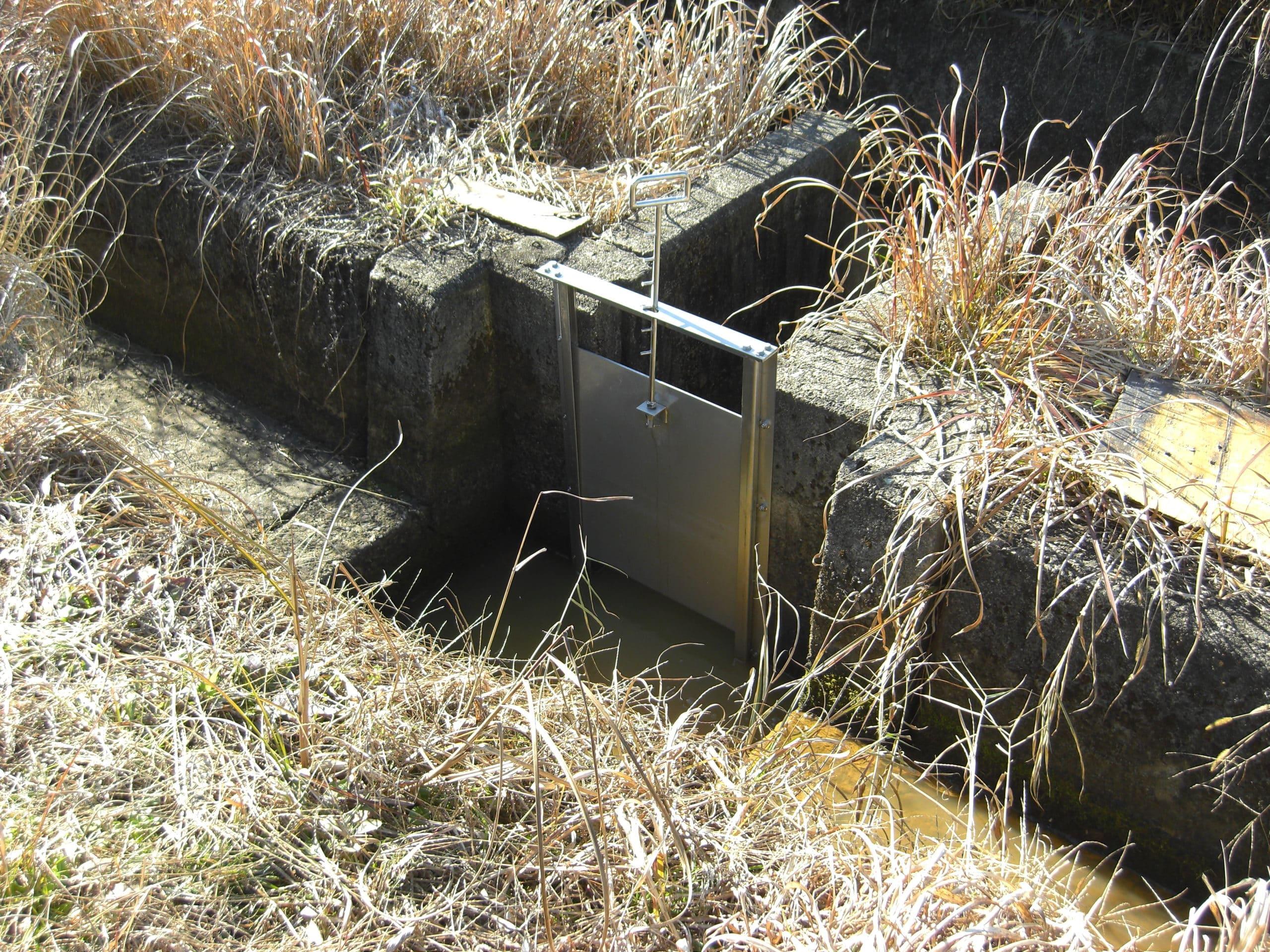 水路のせきを製作施工しました