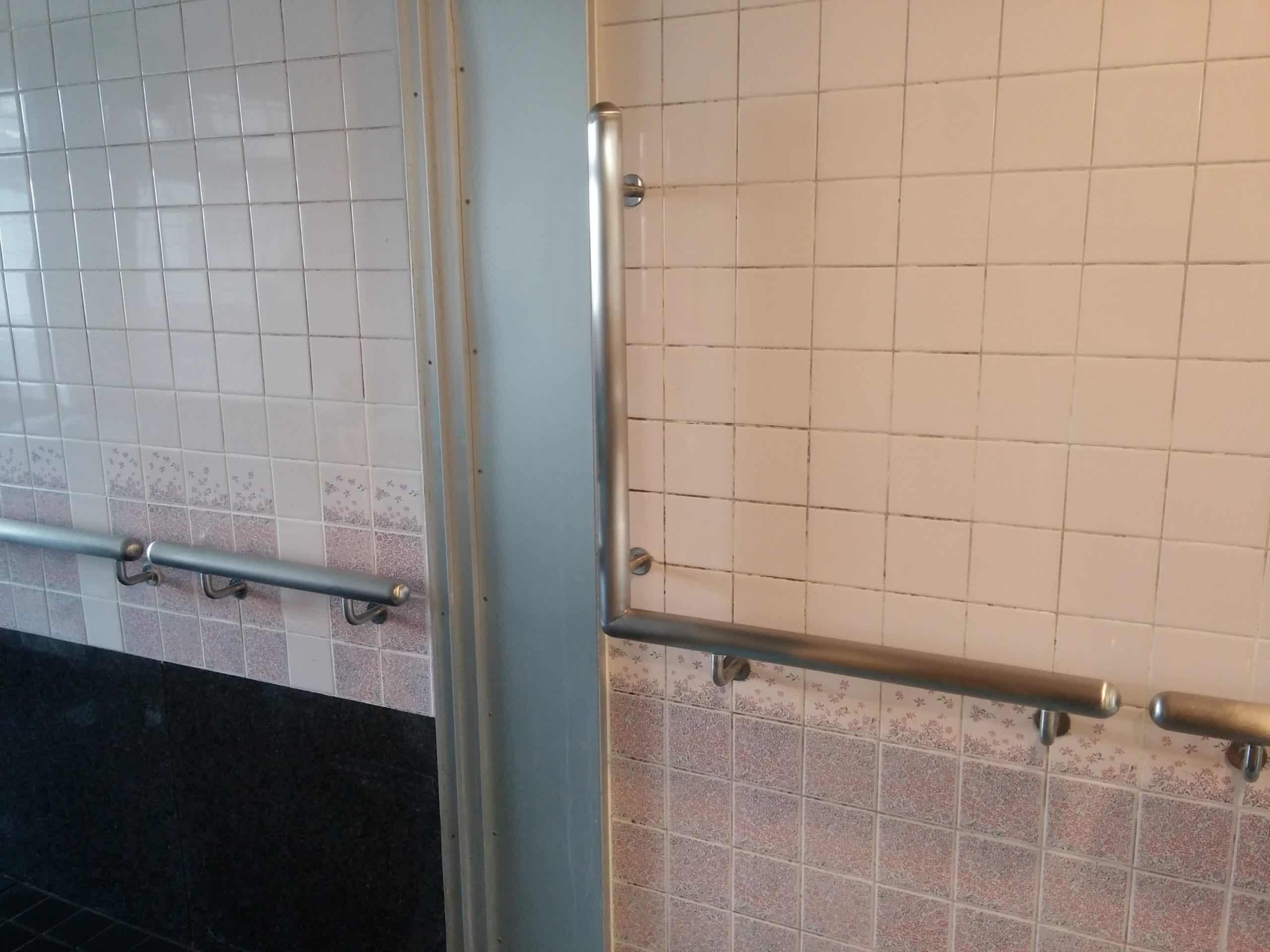 デイサービスの浴室の手摺りを製作施工しました