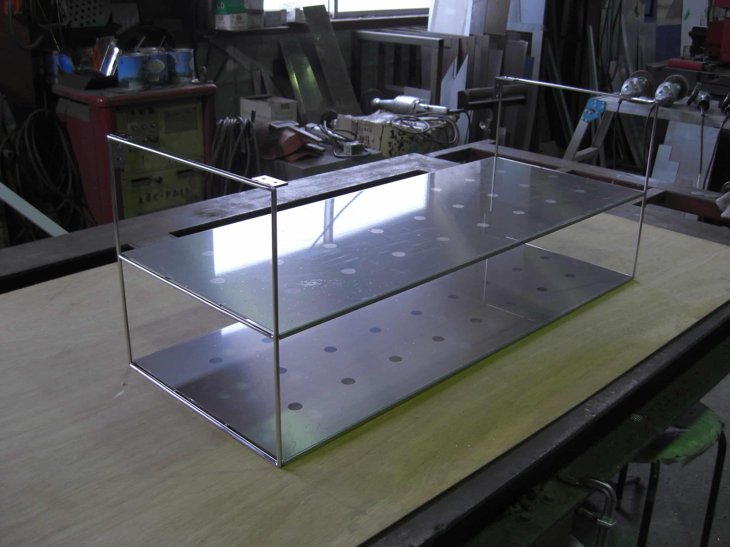 キッチンのステンレス棚を製作しました
