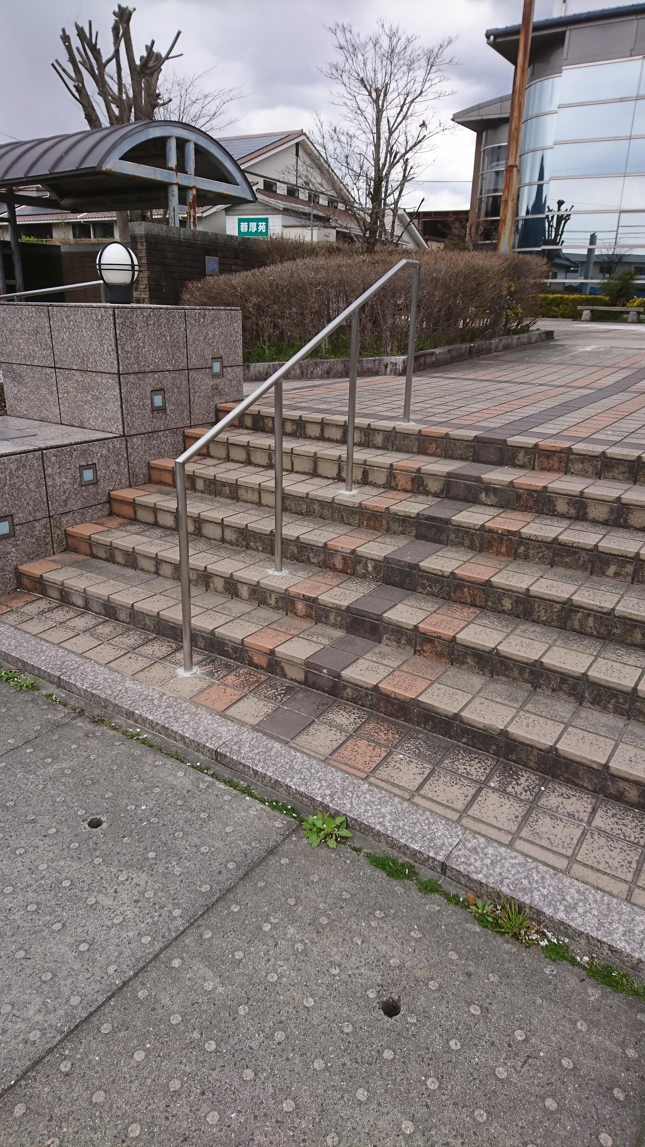 階段手摺を製作施工しました