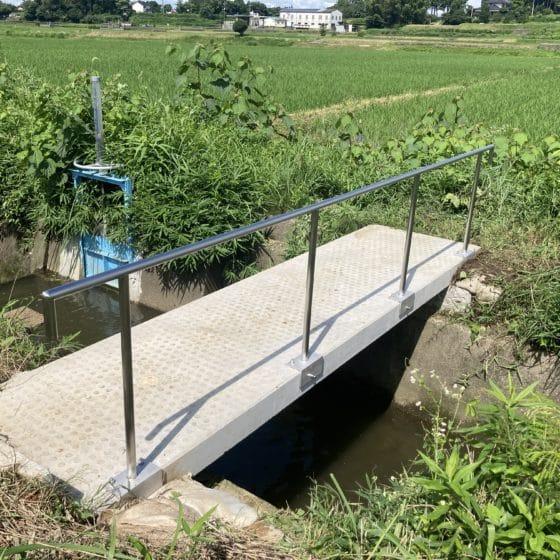 橋の転落防止手すりを制作施工しました