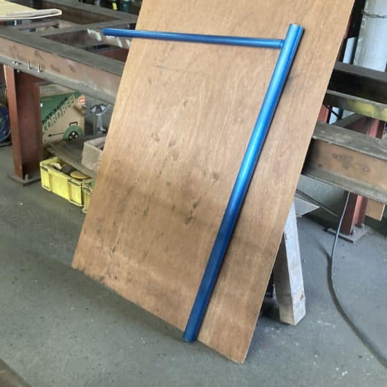 ステンレス製の筧(かけひ)を製作しました
