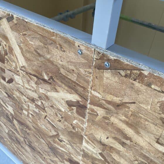 工事にて床見切りと面台の製作施工をしました