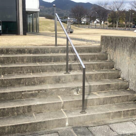 公共施設の壁付き手すり、階段手すりを製作施工しました