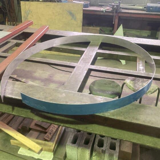 ステンレス製の井戸蓋を製作しました